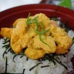 はまなす亭 - (2014/8月)「はまなす定食」の生ウニ丼