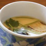 ソースカツ丼・そば きりの実 - 松茸の茶碗蒸し