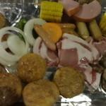 都会の農園バーベキュー広場 - バーベキューの食材