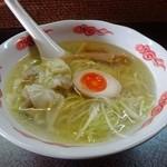俺のイケ麺 - ランチセット「鶏塩ワンタンメン」