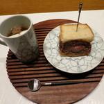 肉割烹 華家 新栄 - 飛騨牛メンチカツサンドと牛テールスープ