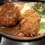 洋食屋 カーネリアン - デミソースハンバーグ