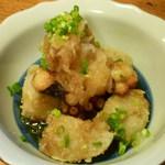 松美屋 - 里芋とタコ揚げおろしポン酢かけ