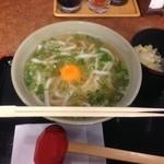 黒田屋 - 月見うどん様(380円)
