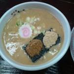 31705210 - 醤油つけ麺のつけ汁(かつお粉、えび粉は最初から提供されました)(26.10.18)