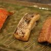 笹丸 - 料理写真:炙り三兄弟のお目見え