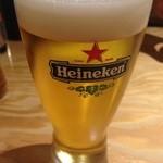 小江戸 - 酒場に珍しい?ハイネケン生ビール