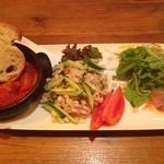 トラットリアバジル - 料理写真:2014/9/21 本日のおすすめ前菜3種盛り合わせ