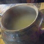 因業屋 - 蕎麦湯