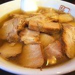 喜多方ラーメン 坂内 - チャーシュー麺を太麺で!