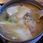 名取屋 - ホルモン鍋定食