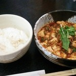 31711812 - 麻婆豆腐とライス750円♪