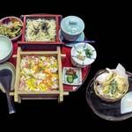 南鴨宮甲羅本店 - 味彩ランチ(セット全体)