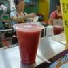 大鑼鼓平價果汁量販店(南機場夜市) - ドリンク写真:混じりっ気なし!台湾産西瓜原汁搾りたて(NTD30)