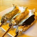 杉ケ瀬ヤナ - 2014.10 鮎塩焼き大(1,300円)、鮎魚でん大(1,300円)