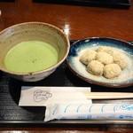 五十鈴茶屋 - わらび餅と抹茶のセット
