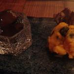 31722617 - きゅうりの漬物、コーンバターかぼちゃ