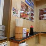 徳島ラーメン奥屋 - カウンター