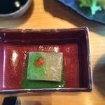 道後夢蔵 夢かたり - 先附「菊花豆腐」