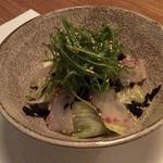 角壱 - 岩海苔と九条葱のサラダ鮮魚和え