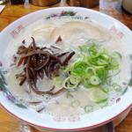 博多ラーメン 山桜 - 2014年10月18日(土) ラーメン(620円)はりがね
