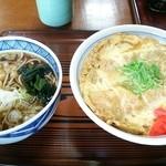 江戸家 - 2014.10再訪 半カツ丼+半そばセット(500円)