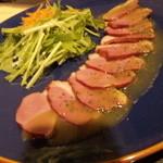 全席個室居酒屋 若の台所~こだわり野菜~ - 合鴨のカルパッチョ・679円