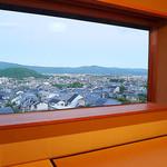 ふきあげ - 数寄屋造りの二階。比叡山を望む。