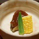 ふきあげ - 肉厚な煮あわびと煮こごり。