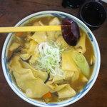 藍屋 - 太い麺と大きな器