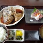 浜善 - コロダイかぶと定食1500円