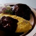 レストラン道 - ハンバーグオムライス200g