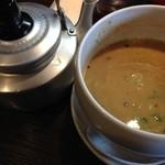 翔華 - 翔華の豚とお魚つけ麺スープ割り(14.07)