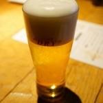風味や 春 - ビールはスーパードライです。