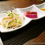 焼肉とワイン 醍醐 - ミノの湯引き刺し コールドステーキ