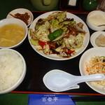 百香亭 - 回鍋肉定食(950円)