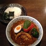 らっきょ大サーカス - 野菜チキンスープカレー