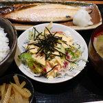 魚串 然 - 鯖の塩焼き定食
