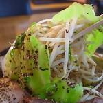 らーめん 雷華 - カラフル野菜山はヨシ