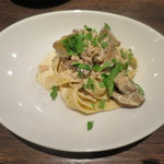 アンティカブラチェリアベッリターリア - 伊産ポルチーニと大山鶏のクリームソース フェットチーネ