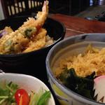 蕎麦処 朝日屋 - 天丼&たぬきそばセット