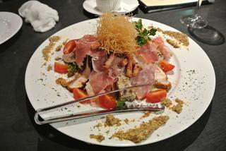 ビストロ キャトルズ - キャトルズ風!肉!肉!肉サラダ!-1200円 (2014.10)