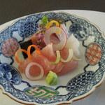 神宗 鎌倉店 - 金目鯛昆布〆と鰤の造り