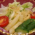 中国四川料理 桃花源 - ランチのサラダ