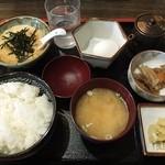 ほうとう松木坂 - とろろ汁定食。