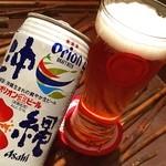 沖縄料理 金魚 - 沖縄オリオンビール(缶)