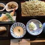 蕎麦貴石 - 昼蕎麦セット 1100円