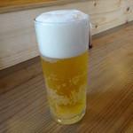わらしべちょー茶 - ランチビール