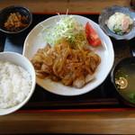 わらしべちょー茶 - 生姜焼き定食
