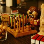 隠れ家bar PTN - BARらしい遊べるおもちゃ達。